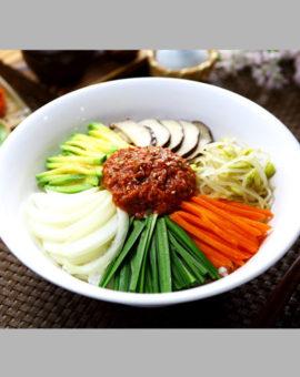 豆韭菜拌饭